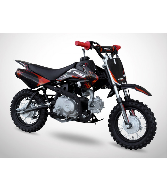 moto essence enfant 50cc noir rouge probike automatique kiddi quad. Black Bedroom Furniture Sets. Home Design Ideas