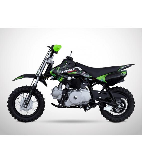 moto essence enfant 88cc noir vert probike semi auto. Black Bedroom Furniture Sets. Home Design Ideas