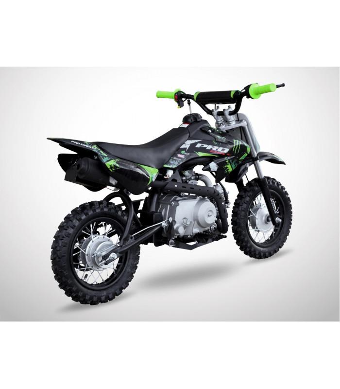 moto essence enfant 88cc noir vert probike semi auto kiddi quad. Black Bedroom Furniture Sets. Home Design Ideas