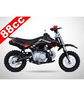 Moto essence enfant 88cc noir-rouge PROBIKE semi-auto