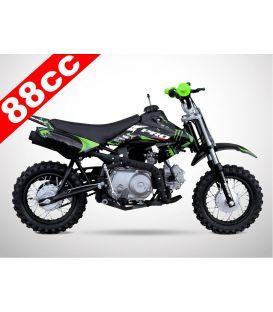 Moto essence enfant 88cc noir-vert PROBIKE semi-auto