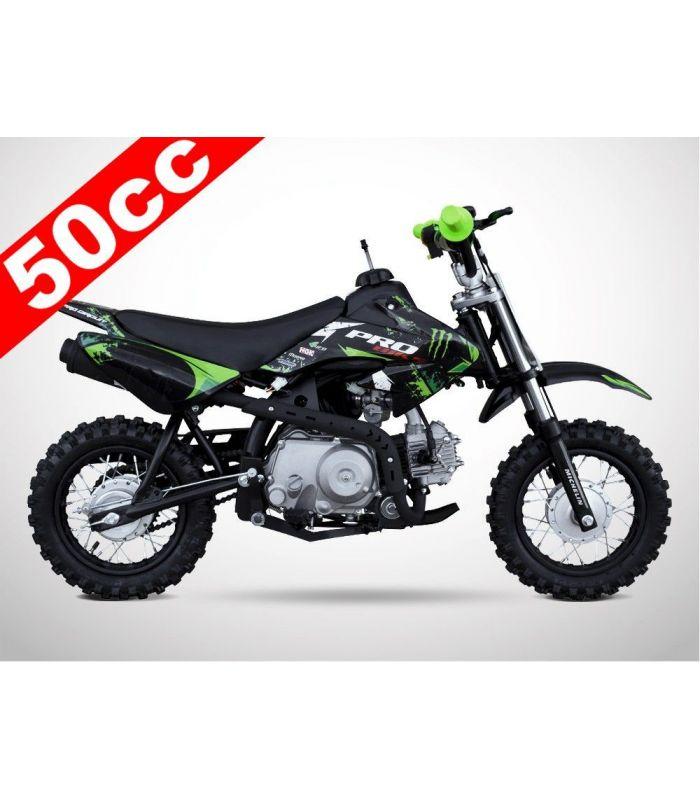 moto essence enfant 50cc noir vert probike automatique. Black Bedroom Furniture Sets. Home Design Ideas
