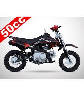Moto essence enfant 50cc noir-rouge PROBIKE Automatique