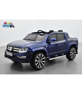 Volkswagen Amarok Bleu Raven métallisé, voiture électrique pour enfant, 12Volts - 2 moteurs