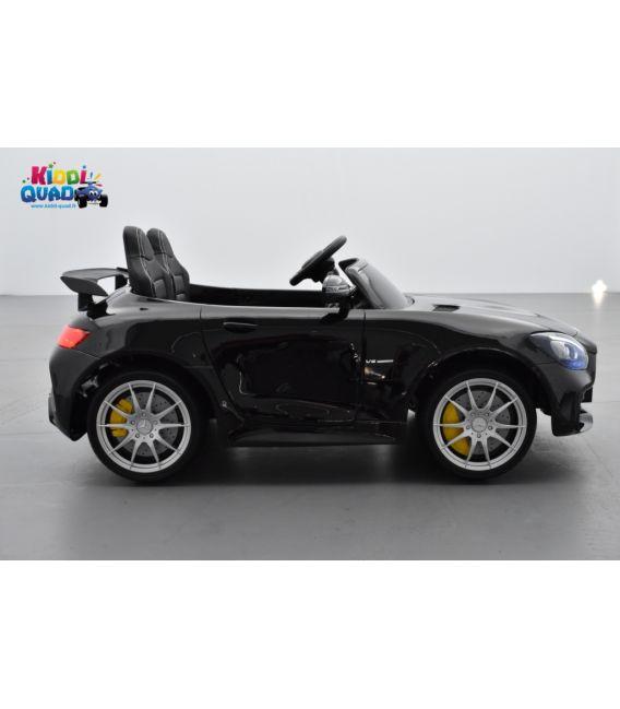 Mercedes AMG GT R 2 places Noir Métallisé, voiture électrique pour enfant, 12 volts 10 Ah