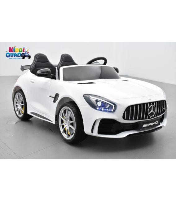 Mercedes AMG GT R 2 places Blanc, voiture électrique pour enfant, 12 volts 10 Ah