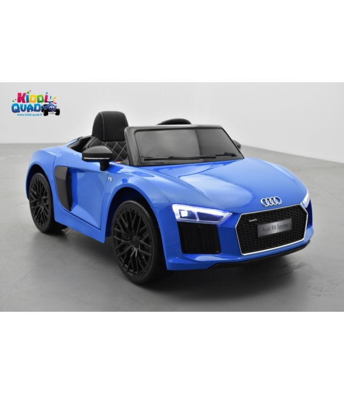 audi r8 bleu 12 volts spyder s tronic lectrique pour enfant. Black Bedroom Furniture Sets. Home Design Ideas