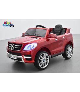 Mercedes ML350  rouge métallisé, voiture électrique pour enfant, 12V - 2 moteurs
