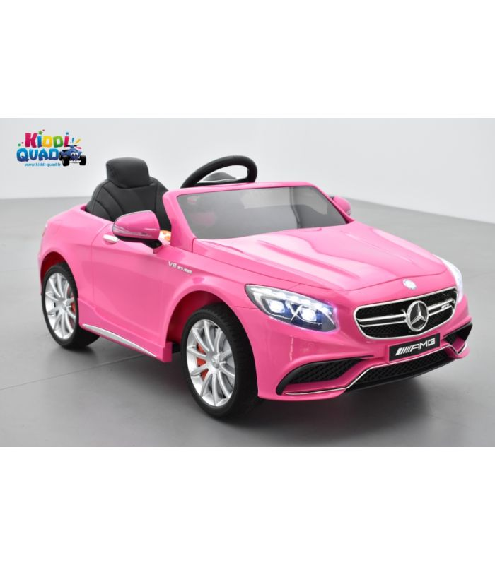 mercedes s63 rose voiture lectrique pour enfant 12 volts. Black Bedroom Furniture Sets. Home Design Ideas