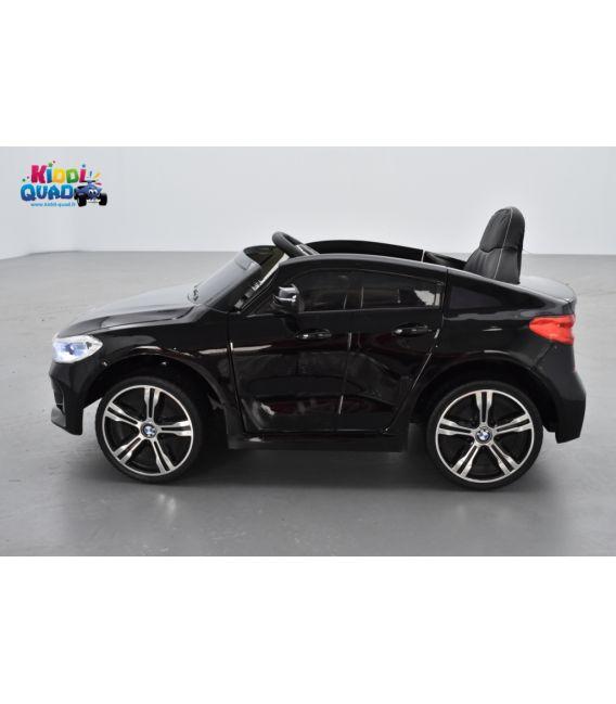 BMW Série 6 GT Noir Métallisée, voiture électrique enfant, 12 Volts, 2 moteurs