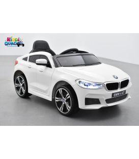 BMW Série 6 GT Blanc, voiture électrique enfant, 12 Volts, 2 moteurs