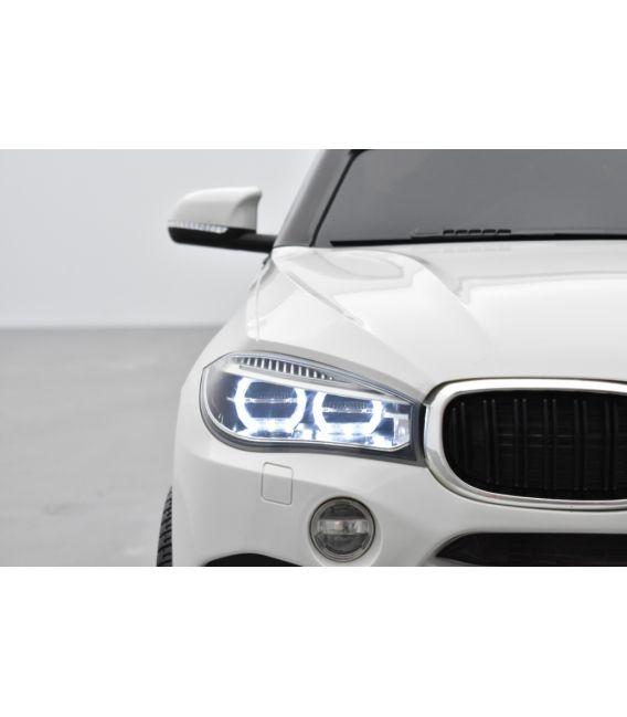 BMW X6 M Blanc, Version 1 place, voiture électrique enfant, 12 Volts, 2 moteurs