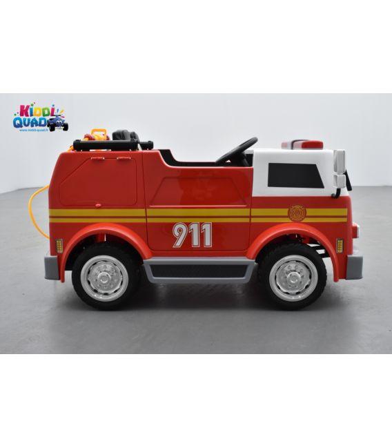 Camion Pompier électrique enfant, 24Volts - 7AH, 2 moteurs