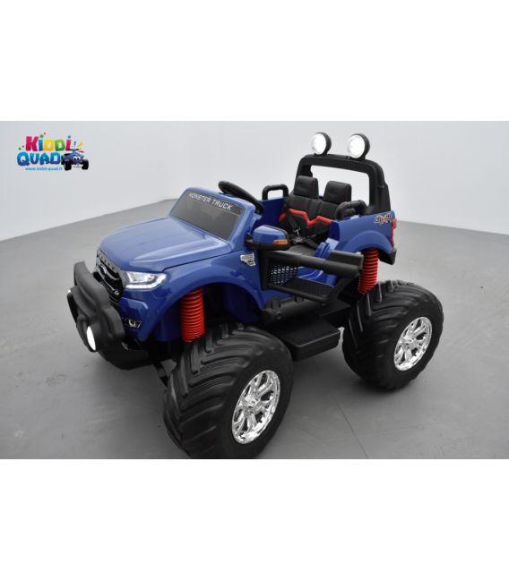Monster Truck Ford Ranger Bleu Métallisée, voiture électrique enfant 12 volts - 2 moteurs