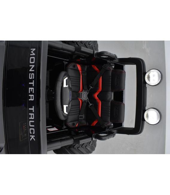 Monster Truck Ford Ranger Noir Métallisée, voiture électrique enfant 12 volts - 2 moteurs