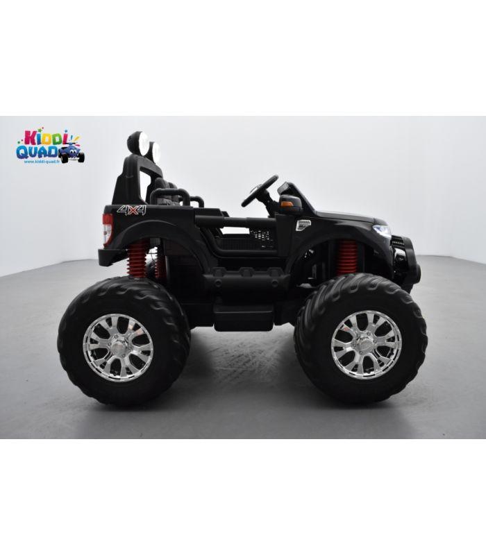 monster truck ford ranger noir m tallis e voiture lectrique enfant 12 volts 4 moteurs. Black Bedroom Furniture Sets. Home Design Ideas