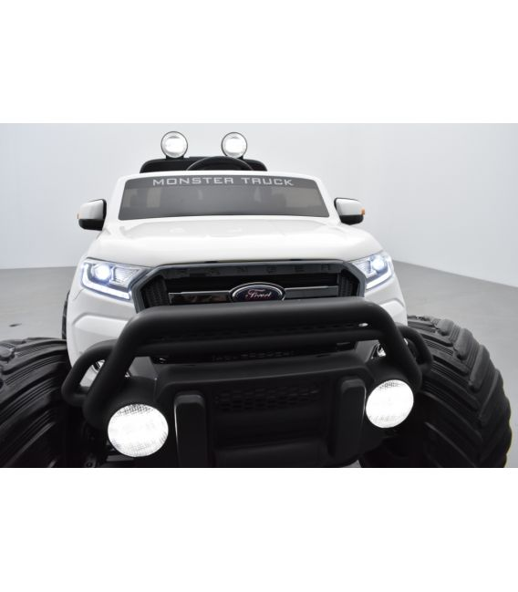 Monster Truck Ford Ranger Blanc, voiture électrique enfant 12 volts - 2 moteurs