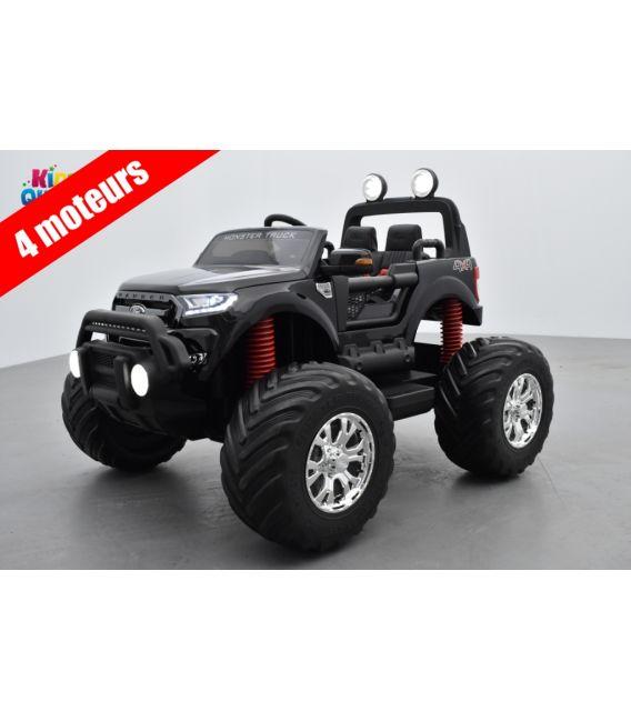 Monster Truck Ford Ranger Noir Métallisée, voiture électrique enfant 12 volts - 4 moteurs