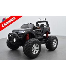 Monster Truck 2 x 12V Ford Ranger Noir Métallisée, voiture électrique enfant 12 volts - 4 moteurs
