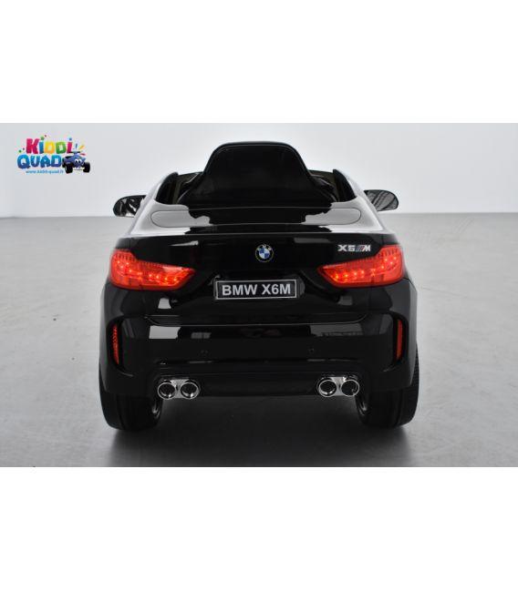 BMW X6 M Noir Métallisée, Version 1 place, voiture électrique enfant, 12 Volts, 2 moteurs