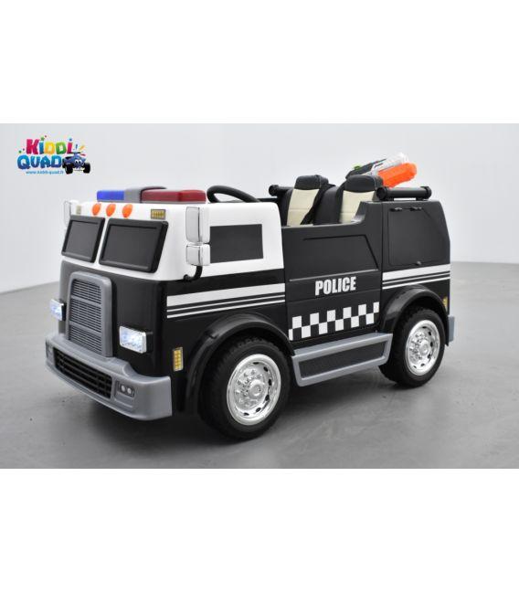 Camion de Police électrique enfant, 24Volts - 7AH, 2 moteurs