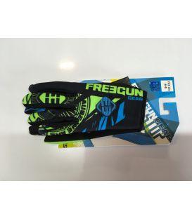 Gants cross enfant Freegun NERVE neon vert bleu moto quad