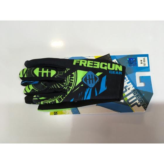 Gants cross enfant Freegun Beast neon vert bleu moto quad