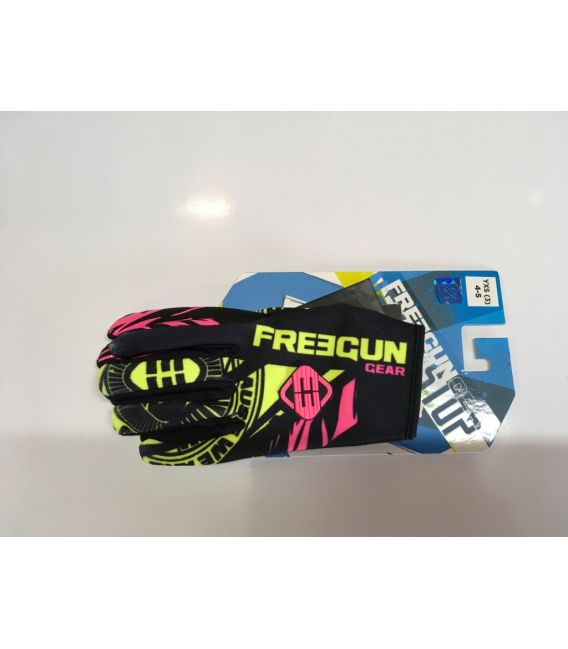 Gants cross enfant Freegun NERVE neon jaune rose moto quad