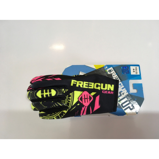 Gants cross enfant Freegun NERVE neon jaune rose moto quad