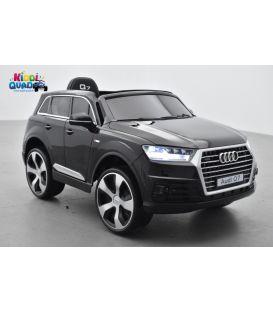 Audi Q7 Quattro 12 Volts noir métallisée, voiture électrique enfant télécommande parentale 2.4 Ghz- 2 moteurs