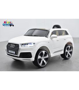 Audi Q7 Quattro Blanc 12 Volts, voiture électrique enfant télécommande parentale 2.4 Ghz- 2 moteurs