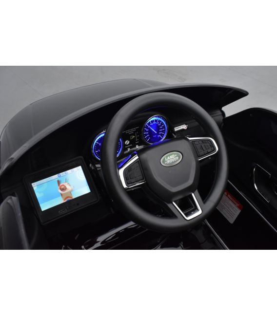 Land Rover Discovery Noir Métallisée, Ecran MP4, voiture électrique enfant télécommande parentale, 12 Volts - 2 moteurs