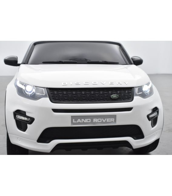 Land Rover Discovery Blanc, Ecran MP4, voiture électrique enfant télécommande parentale, 12 Volts - 2 moteurs