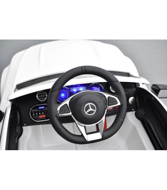 Mercedes C63 S Coupé AMG Blanc, voiture électrique pour enfant, 12 Volts - 2 moteurs