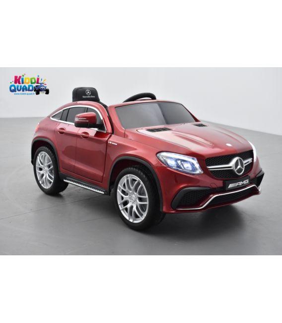 Mercedes GLE  63 Rouge Métallisée, voiture électrique pour enfant, 12 Volts - 2 moteurs
