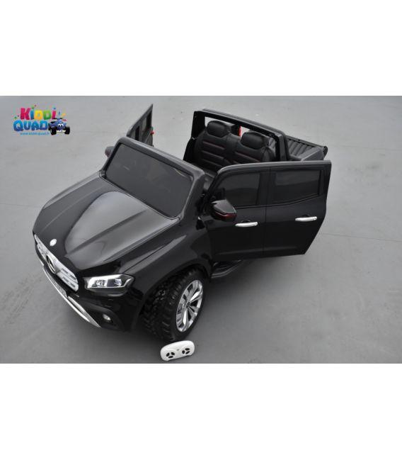 Mercedes Classe X Noir Kabara Métallisée, Ecran MP4, voiture électrique pour enfant, 12 Volts - 4 moteurs