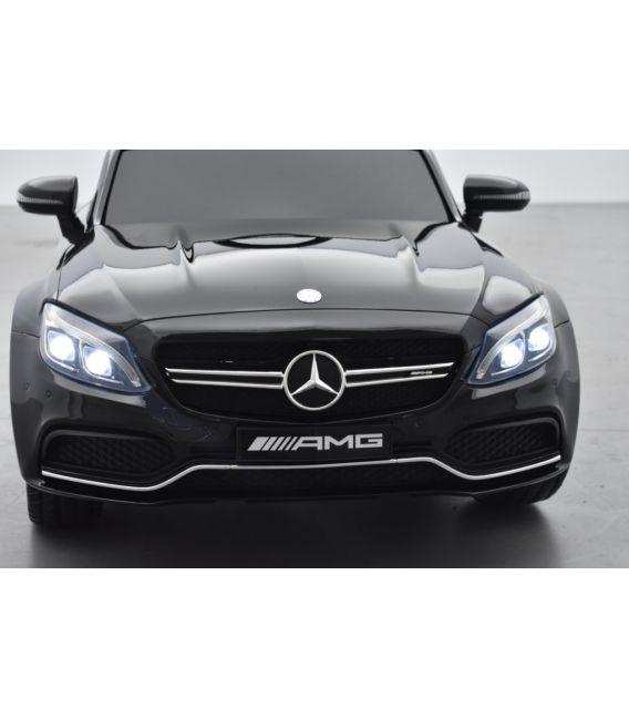 Mercedes C63 S Coupé AMG Noir Métallisée, voiture électrique pour enfant, 12 Volts - 2 moteurs