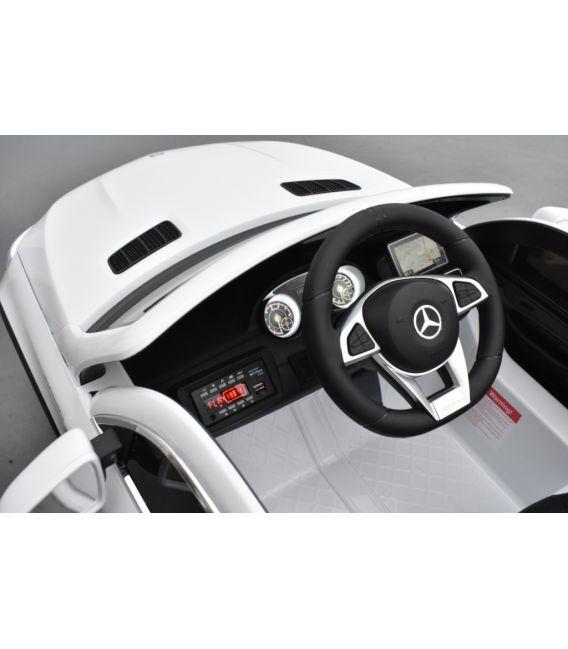 Mercedes GLE  63 Blanc, voiture électrique pour enfant, 12 Volts - 2 moteurs
