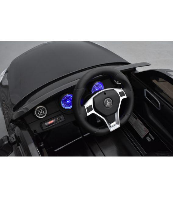 Mercedes A45 AMG Turbo Noir Cosmos métallisé, avec télécommande parentale 2,4 Ghz, voiture électrique pour enfant 12V 7Ah