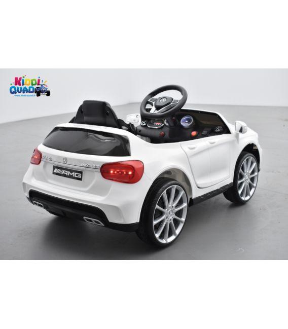 Mercedes GLA45 Blanc, voiture électrique pour enfant, 12 Volts - 2 moteurs