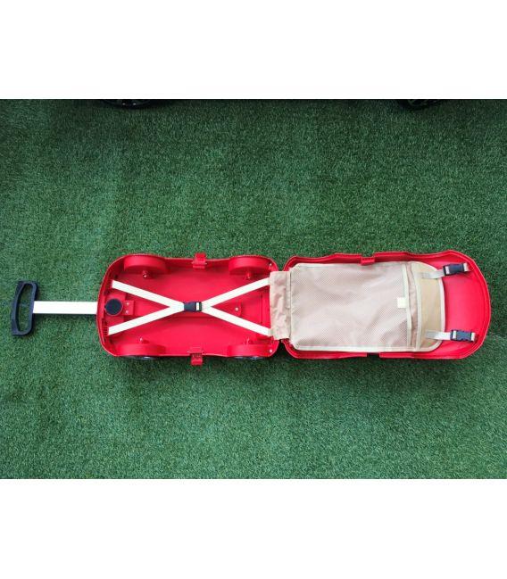 Valise voiture enfant sport rouge, valisette forme voiture bébé