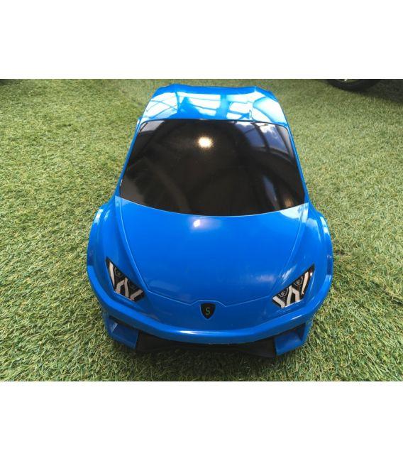 Valise voiture enfant sport bleu, valisette forme voiture bébé