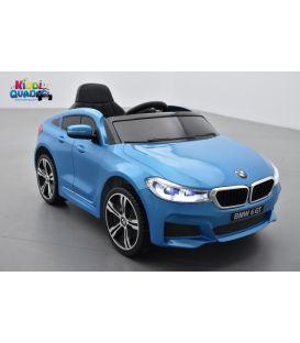 BMW Série 6 GT Bleu Métallisée, voiture électrique enfant, 12 Volts, 2 moteurs