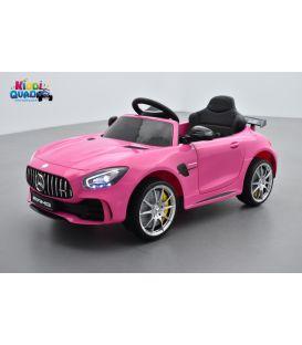 Mercedes AMG GT R  Rose, voiture électrique pour enfant, 12Volts - 2 moteurs