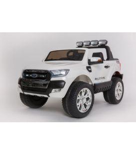 Ford Ranger Phase 2 Blanc Discount avec écran MP4, télécommande parentale 2.4 GHz, voiture électrique pour enfant 2 places, 12 v