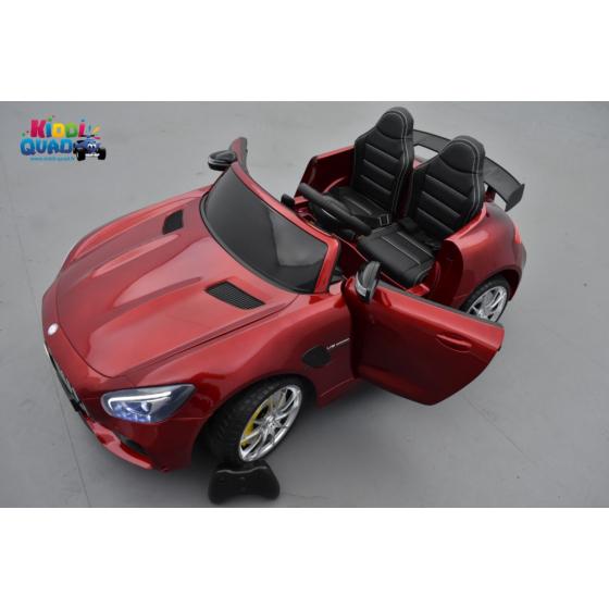 Mercedes AMG GT R 2 places Rouge Métallisé, voiture électrique pour enfant, 12 volts 10 Ah
