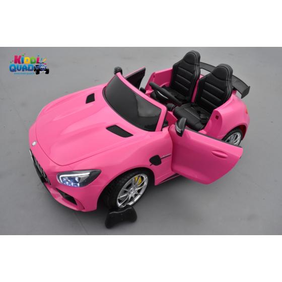 Mercedes AMG GT R 2 places Rose, voiture électrique pour enfant, 12 volts 10 Ah