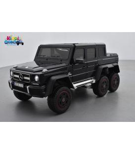 Mercedes Benz G63 6x6 Noir avec Ecran MP4, voiture électrique pour enfants, 12 Volts - 4 Moteurs