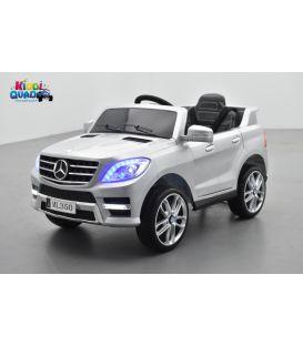 Mercedes ML350  gris métallisé, voiture électrique pour enfant, 12V7AH - 2 moteurs