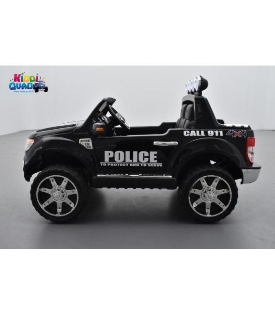 Ford Ranger POLICE VERSION LUXE avec télécommande parentale 2,4 GHz, voiture électrique pour enfant 2 places, 12 volts